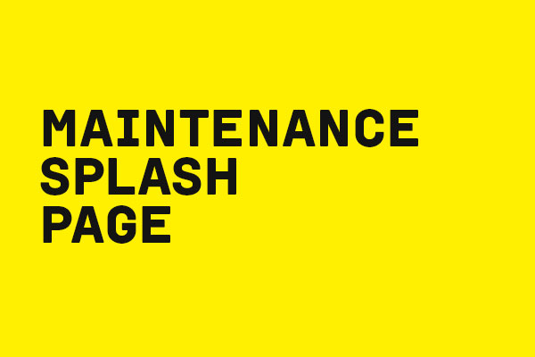 MAINTENANCE PAGE HTML DOWNLOAD